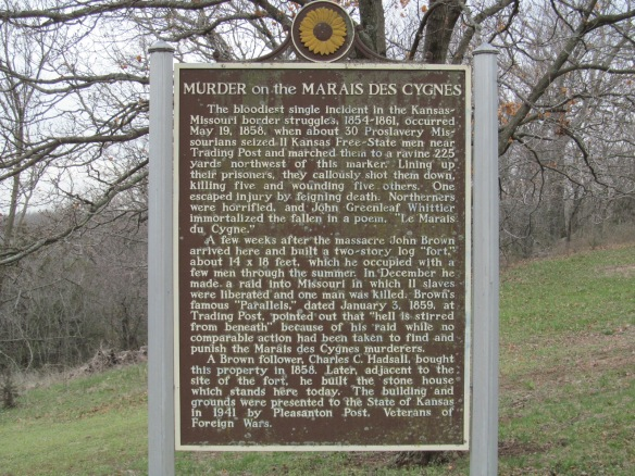 Murder of Marais des Cygnes Sign