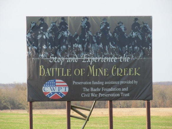 Battle of Mine Creek Site Sign
