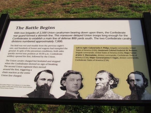 Battle Begins Sign at Mine Creek