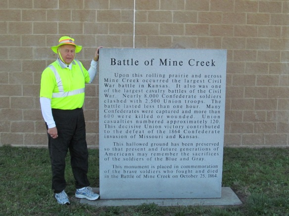 Battle of Mine Creek Sign