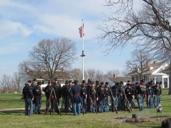 Roll Call Reenactment at Fort Scott